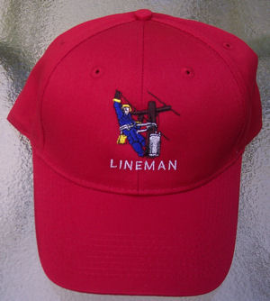 TNT: Red Lineman Embroidered Baseball Cap - GREAT DETAIL